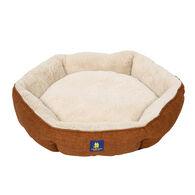 Round Bolster Pet Bed, Bronze