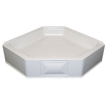 """32"""" x 32"""" Neo Hex Pan LH with 5"""" Apron - Parchment"""