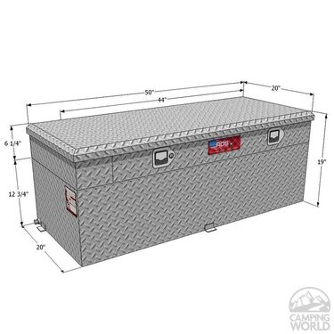 Auxiliary Combo Fuel & Tool Boxes, 51 gallon