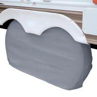 Overdrive RV Dual Axle Wheel Cover, Gray, XL