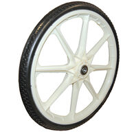 "Replacement Dock Cart Wheel Black 19"" Diameter"