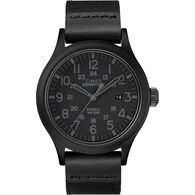 Timex Expedition® Scout 40mm Fabric Strap Watch, Black