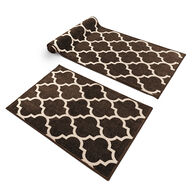 Prest-O-Fit Decorian 2-Piece RV Rug Set, Cocoa Brown