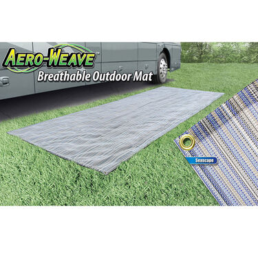Prest-O-Fit Aero-Weave Breathable Outdoor Mat, 7.5' x 20', Seascape