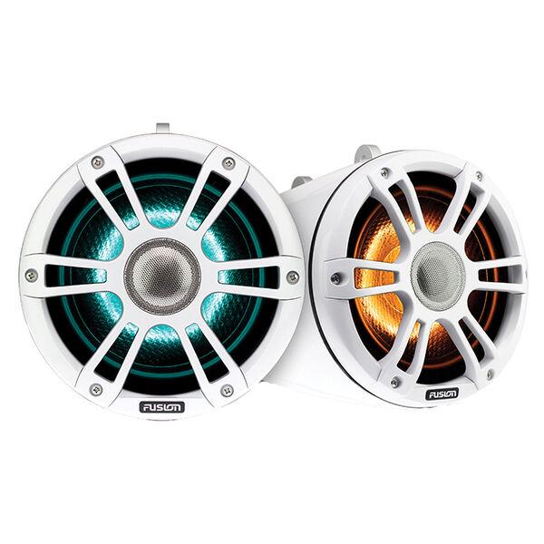 "FUSION 8.8"" Wake Tower Speakers w/CRGBW LED Lighting - Sports Chrome"