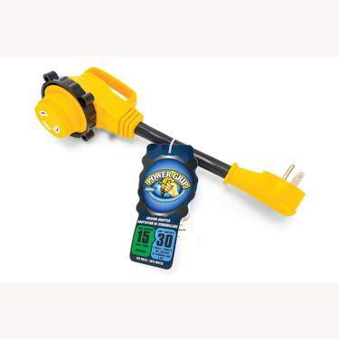 "Power Grip™ 12"" Dogbone Locking Adapters, 15-Amp Male/30-Amp Female"