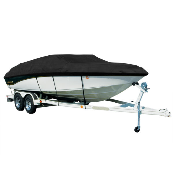 Exact Fit Covermate Sharkskin Boat Cover For Bayliner Vr6 W/Bimini Laid Down
