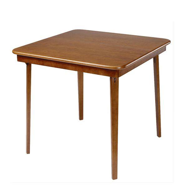 Straight Edge Folding Card Table, Fruitwood