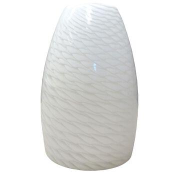 White Weave Glass Globe