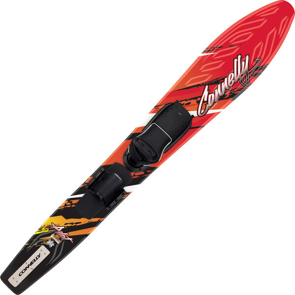 Connelly Pilot Slalom Ski With Adjustable Binding And Rear Toe Strap