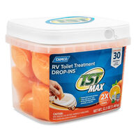 Camco TST MAX RV Toilet Treatment, Citrus Scent, 30 Drop-Ins