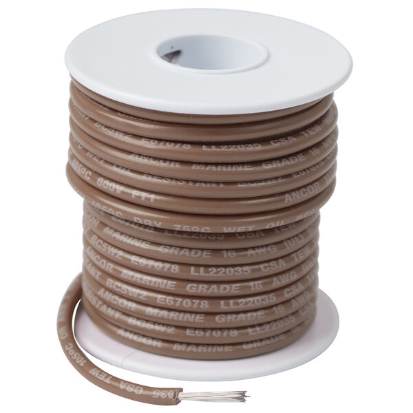 Ancor Marine Grade Primary Wire, 16 AWG, 100', Tan