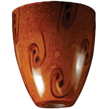 Brown Swirl Glass Globe