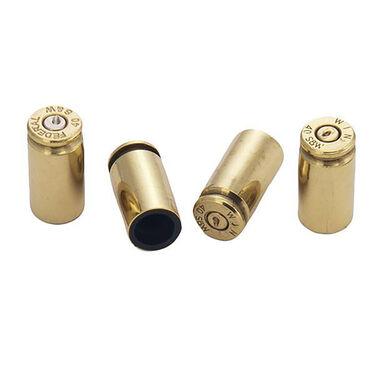Lucky Shot USA 40-Caliber Brass Bullet Valve Stem Caps, Set of 4
