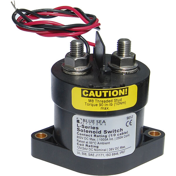 Blue Sea Solenoid Switch, L-Series, 12-24V