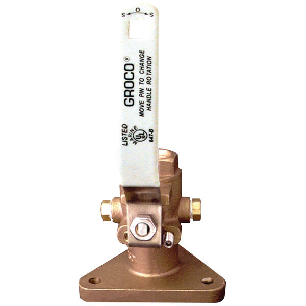 "Groco FBV-1000 Tri-Flange Seacock, 1"" Connection"