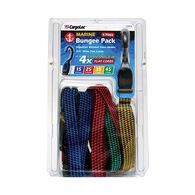 Flat Bungee Straps, 6-Pack