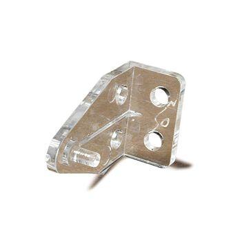 Clear plastic Mini-Blind Hold Down brackets