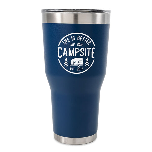 "Camco ""Life is Better at the Campsite"" Tumbler, 30 oz., Navy"