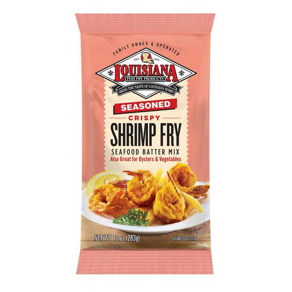 Louisiana Fish Fry Seasoned Crispy Shrimp Fry Seafood Batter Mix, 10-Oz.