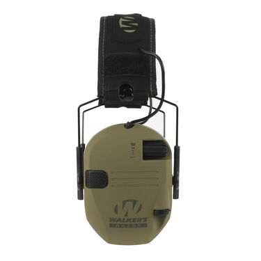 Walker's Razor Patriot Series Slim Shooter Folding Electronic Earmuff, OD Green