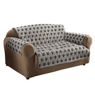 Sam Salem & Son Paw Print Sofa Cover, Gray/Black