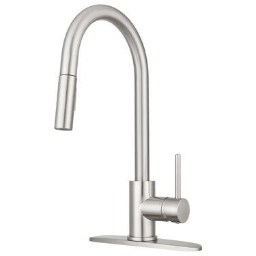 Dura Faucet Streamline Pull-Down Kitchen Sink Faucet, Satin Nickel