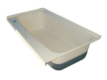 RV Bath TUB Left Hand Drain TU600LH - Polar White