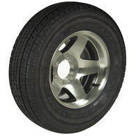 Goodyear Endurance ST225/75 R 15 Radial Trailer Tire, 6-Lug Aluminum Black Star