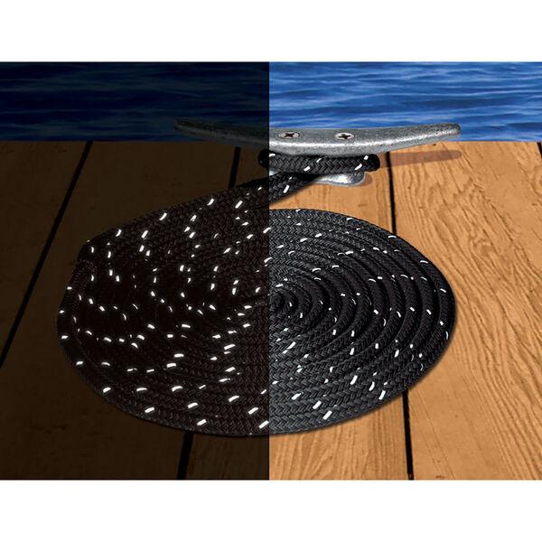 "Dockmate Reflective Double Braid Nylon Dock Line, 3/8"" x 15'"