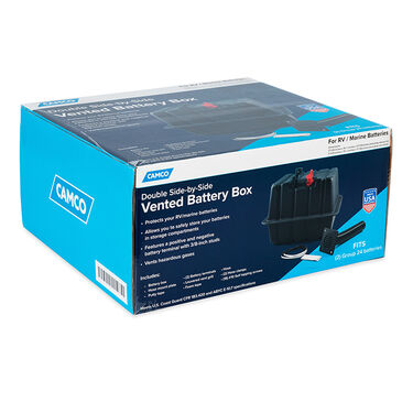 Camco Vented RV / Marine Double Side-By-Side Battery Box