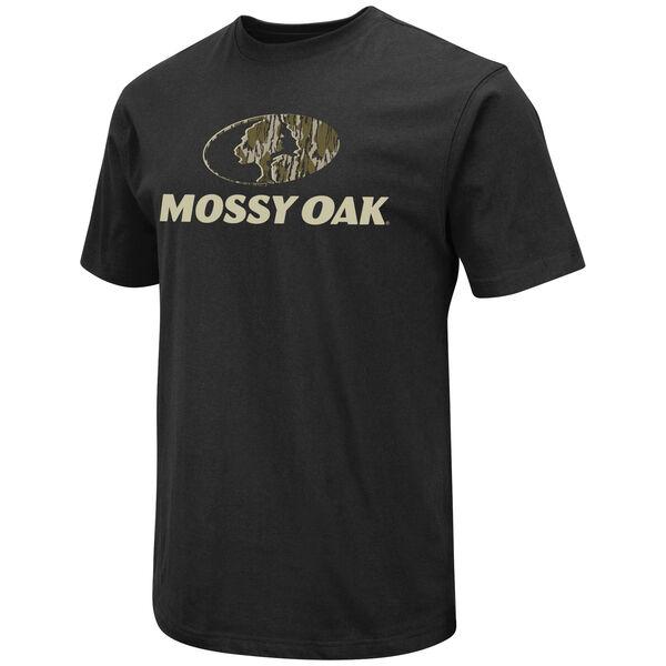 Mossy Oak Men's Camo-Fill Logo Short-Sleeve Tee