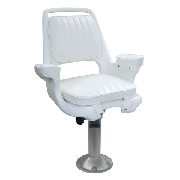 Wise Captain's Chair With Fixed Pedestal, Spider Mounting Plate