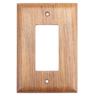 Whitecap Teak Teak Ground Fault Outlet Cover, Receptacle Plate