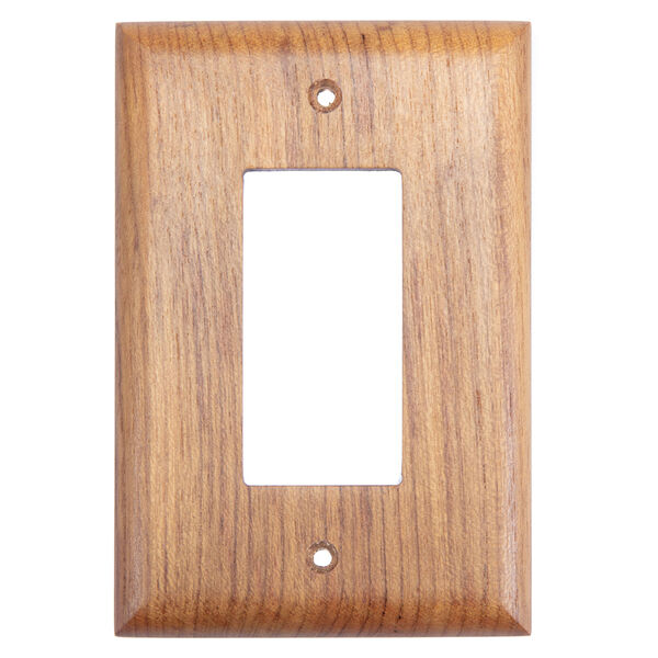 Whitecap Teak Ground Fault Outlet Cover, Receptacle Plate