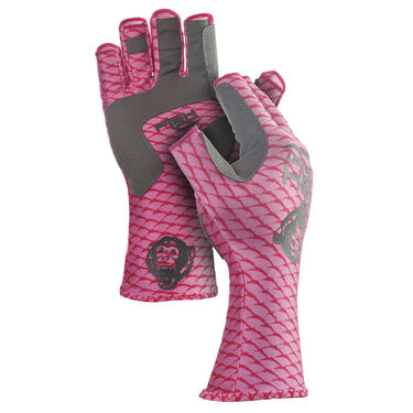 Fish Monkey Half-Finger Guide Glove, Pink Scales
