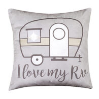 "Love My RV Pillow, 16"" x 16"""