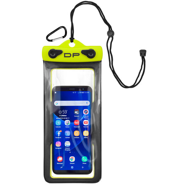 "Dry Pak Floating Waterproof Cell Phone Case, 4"" x 8"", Yellow"