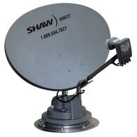 Trav'ler Shaw Direct Satellite TV Antenna Reflector & LNB Kit