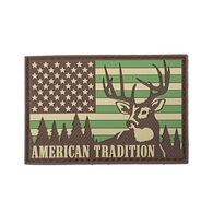 Patriot Patch American Tradition Deer Hunting USA Flag Patch