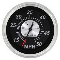 """Sierra Black Sterling 3"""" Speedometer, 50 MPH"""