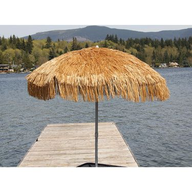 Palapa Tiki Patio Umbrella 6 ft - Whiskey Brown