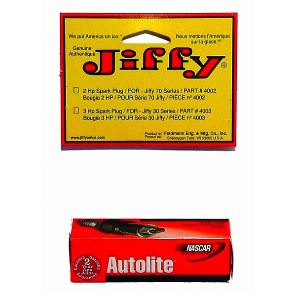 Autolite Replacement Spark Plug for Jiffy 2-Cycle & 2HP Tecumseh Engines