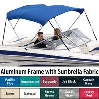 """Shademate Sunbrella 3-Bow Bimini Top, 6'L x 54""""H, 54""""-60"""" Wide"""