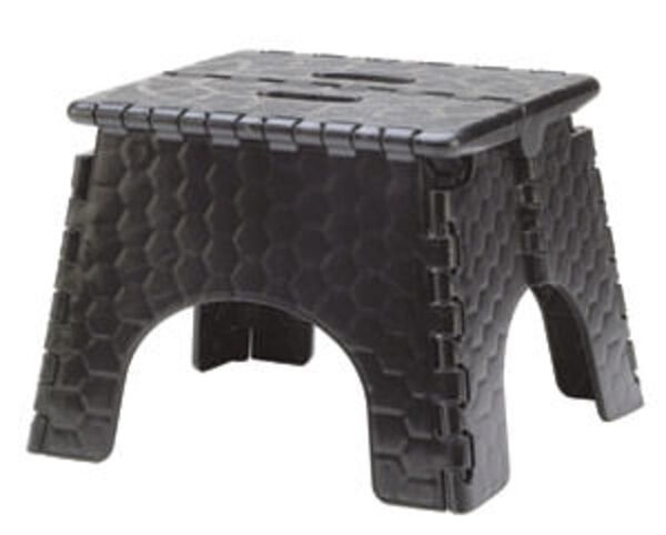 "E-Z Foldz Folding Step Stool, 9"" - Black"