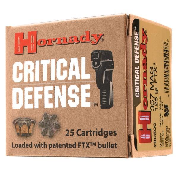 Hornady Critical Defense Handgun Ammo, 9mm Luger, 115-gr., FTX, 25 Rounds