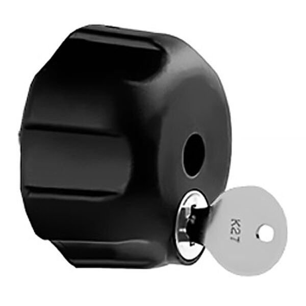 "RAM Mount Knob With Keyed Lock And 1/4""-20 Brass Hole"