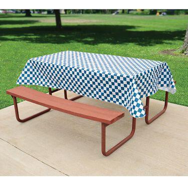 Blue Check Tablecloth