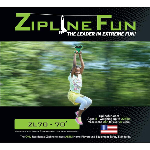 Adventure Parks Zipline 70, Green