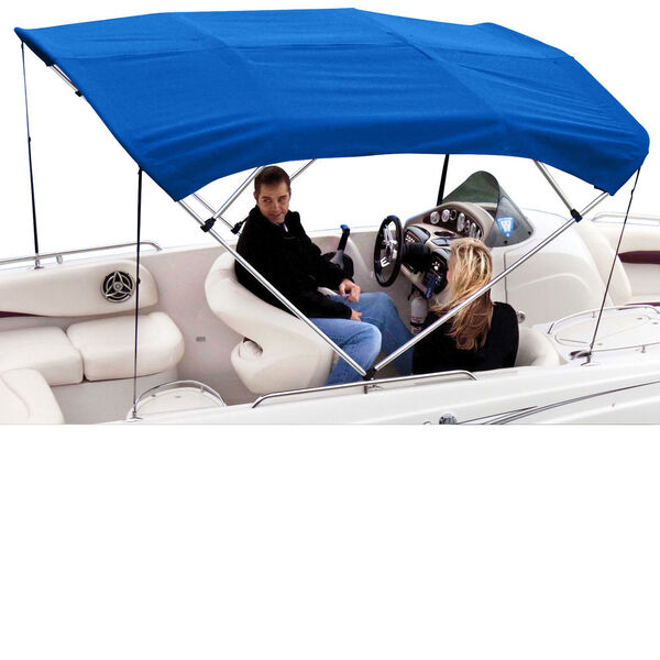 "Shademate Polyester 4-Bow Bimini Top, 8'L x 54""H, 79""-84"" Wide"